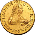 Chile, Chile: Ferdinand VI gold 8 Escudos 1751 So-J AU - Cleaned,...