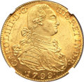 Colombia, Colombia: Charles IV gold 8 Escudos 1799 NR-JJ MS63 NGC,...
