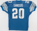Football Collectibles:Uniforms, Barry Sanders Signed Detroit Lions Jersey....