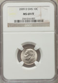 SMS Roosevelt Dimes, 2009-D 10C MS69 Full Bands NGC. Numismedia Wsl. Price for problem free NGC/PCGS ...