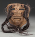 American Indian Art:Wood Sculpture, Spaniard or Viejo Mask, Possibly Mexican. 20th c....