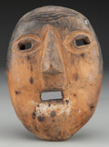 American Indian Art:Wood Sculpture, Rustica Mask, Guatemalan. 20th c....