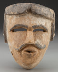 American Indian Art:Wood Sculpture, Spaniard or Dandy Mask, Mexican . 20th c....