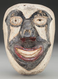 American Indian Art:Wood Sculpture, Clown Mask, Mexican . 20th c....