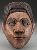 American Indian Art:Wood Sculpture, Malinche Mask, Guatemalan . 20th c....