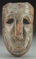 American Indian Art:Wood Sculpture, Green Grinner Mask, Mexican. 20th c....