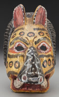 American Indian Art:Wood Sculpture, Lion Mask, Probably Guatemalan. 20th c....