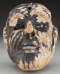 American Indian Art:Wood Sculpture, Negrito or Old Man (Viejo) Mask, Mexican. 20th c....