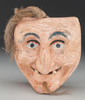 American Indian Art:Wood Sculpture, Viejo or Vieja Mask, Mexican. 20th c....