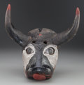 American Indian Art:Wood Sculpture, Toro (Bull) Mask, Mexican . 20th c....