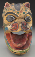 American Indian Art:Wood Sculpture, Tiger (Tigre) Mask, Mexican . 20th c....