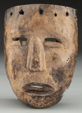 American Indian Art:Wood Sculpture, Face Mask, Mexican . 20th c....