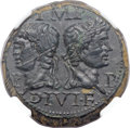 Ancients:Roman Imperial, Ancients: Augustus (27 BC-AD 14), with Marcus Agrippa (died 12 BC). Æ dupondius (27mm, 13.18 gm, 8h)....
