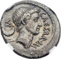 Ancients:Roman Republic, Ancients: Julius Caesar, as Dictator (49-44 BC). AR denarius (19mm, 3.38 gm, 4h)....