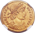 Ancients:Roman Imperial, Ancients: Constans (AD 337-350). AV solidus (21mm, 4.53 gm, 5h). ...