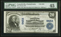 National Bank Notes:Pennsylvania, Connellsville, PA - $20 1902 Plain Back Fr. 650 The Citizens NB Ch.# 6452. ...