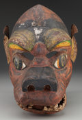 American Indian Art:Wood Sculpture, Mask, Northern Nepal or Bhutan...