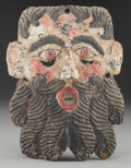 American Indian Art:Wood Sculpture, Bearded Mask, Mexican . 20th c....