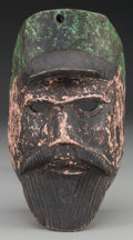 American Indian Art:Wood Sculpture, Soldier Mask, Probably Guatemalan. 20th c....
