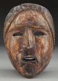 American Indian Art:Wood Sculpture, Female Mask, Probably Guatemalan. 20th c....