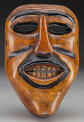 American Indian Art:Wood Sculpture, Clown Mask, Mexican. 20th c....