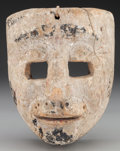 American Indian Art:Wood Sculpture, Spaniard Mask, Mexican . 20th c....