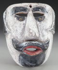 American Indian Art:Wood Sculpture, Spaniard or Charro Mask, Mexican or Guatemalan. 20th c....