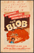 "Movie Posters:Science Fiction, The Blob (Paramount, 1958). Window Card (14"" X 22""). ScienceFiction.. ..."