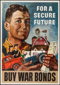 """Movie Posters:War, World War II War Bonds Lot (U.S. Government Printing Office, 1945).U.S. Treasury Poster (20"""" X 28"""") """"For a Secure Future."""" ..."""
