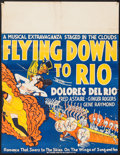 """Movie Posters:Musical, Flying Down to Rio (RKO, 1933). Locally Produced Poster (21.25"""" X27.75""""). Musical.. ..."""