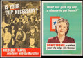 Movie Posters:War, World War II Propaganda Lot (U.S. Government Printing Office,1943/1944). U.S. Office of Defense Transportation Posters (2) ...(Total: 2 Items)