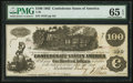 Confederate Notes:1862 Issues, T39 $100 1862 PF-5 Cr. 291.. ...