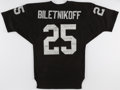 Football Collectibles:Uniforms, Fred Biletnikoff Signed Oakland Raiders Jersey....