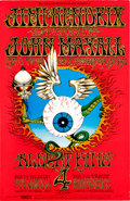 "Memorabilia:Poster, Jimi Hendrix ""Flying Eyeball"" Fillmore/Winterland Concert Poster#BG-105 (Bill Graham, 1968)...."