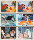 "Movie Posters:Animation, Lady and the Tramp (Buena Vista, 1955). Lobby Cards (6) (11"" X 14""). Animation.. ... (Total: 6 Items)"