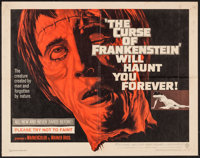 "The Curse of Frankenstein (Warner Brothers, 1957). Half Sheet (22"" X 28""). Horror"