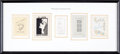 Books:Fine Press & Book Arts, [Bookplates]. Collection of Eleven Bookplates of Actors (IncludingWalt Disney). [N.p., n.d.] ... (Total: 2 Items)