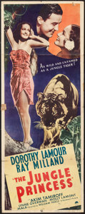"Movie Posters:Adventure, The Jungle Princess (Paramount, R-1946). Insert (14"" X 36""). Adventure.. ..."
