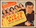 "Movie Posters:Crime, Paid to Dance (Columbia, 1937). Half Sheet (22"" X 28""). Crime.. ..."
