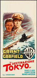 "Movie Posters:War, Destination Tokyo (Warner Brothers, Late-1940s). First Post-WarItalian Locandina (13"" X 27""). War.. ..."