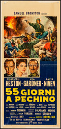 "Movie Posters:Adventure, 55 Days at Peking (Rank, 1963). Italian Locandina (13"" X 27"").Adventure.. ..."