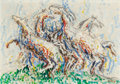 Fine Art - Painting, American:Contemporary   (1950 to present)  , Robert Arthur Goodnough (American, 1917-2010). White HorsesI, 1965. Oil on canvas. 40 x 28 inches (101.6 x 71.1 cm). Si...