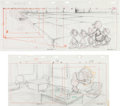Animation Art:Production Drawing, DuckTales Animation Pan Layout Drawing Group of 2 (WaltDisney, 1987).... (Total: 2 Items)