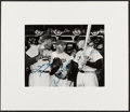 Baseball Collectibles:Photos, Mickey Mantle, Pee Wee Reese and Duke Snider Multi Signed Photograph....