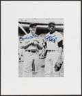 Baseball Collectibles:Uniforms, Mickey Mantle and Willie Mays Multi Signed Photograph. ...