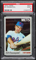 Baseball Cards:Singles (1970-Now), 1970 Topps Ed Kranepool #557 PSA Mint 9....