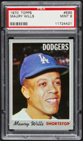 Baseball Cards:Singles (1970-Now), 1970 Topps Maury Wills #595 PSA Mint 9....