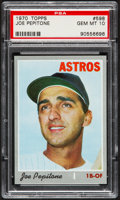 Baseball Cards:Singles (1970-Now), 1970 Topps Joe Pepitone #598 PSA Gem Mint 10 - Pop Three....