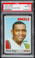 Baseball Cards:Singles (1970-Now), 1970 Topps Chico Ruiz #606 PSA Gem Mint 10 - Pop One....