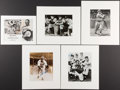 Baseball Collectibles:Photos, Baseball Greats Signed and Unsigned Photographs Lot of 5....